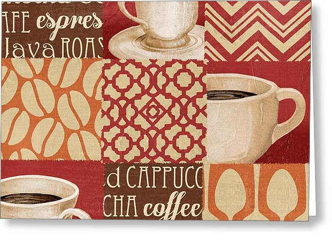 Barista Greeting Cards - Java Collage III Greeting Card by Paul Brent
