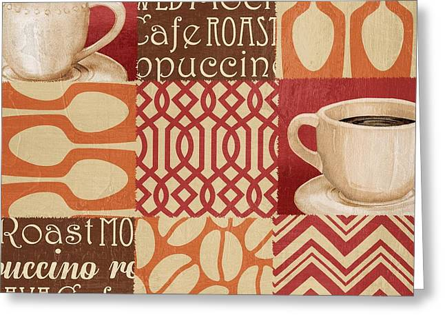 Barista Greeting Cards - Java Collage IV Greeting Card by Paul Brent