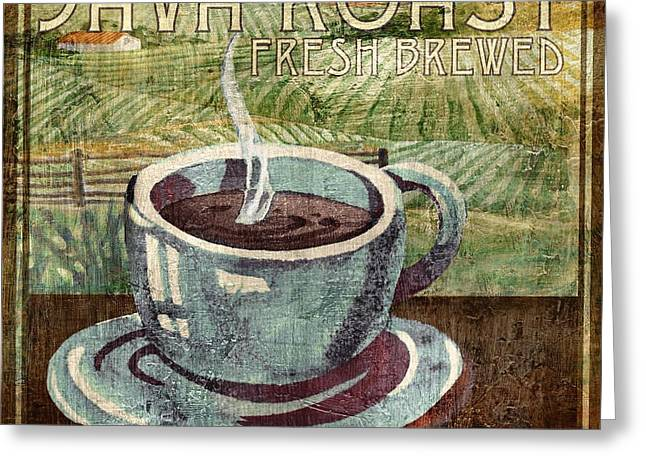 Barista Greeting Cards - Java Roast Greeting Card by Paul Brent