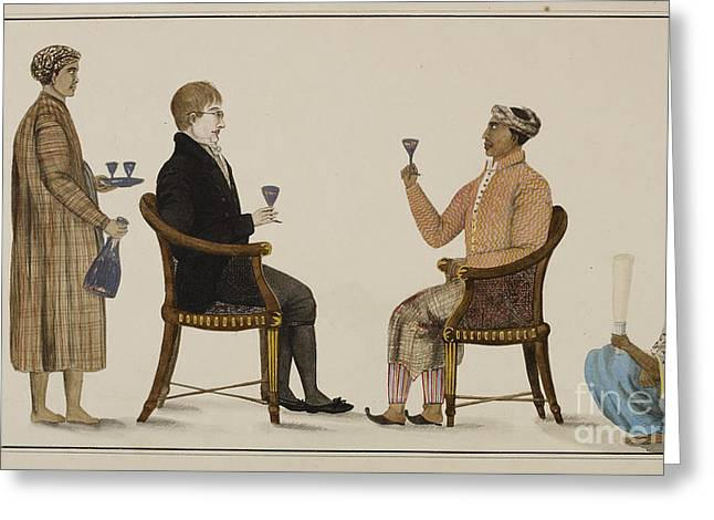 Wine Service Photographs Greeting Cards - Javanese Grandee Greeting Card by British Library