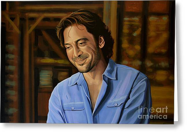 Inside Of Greeting Cards - Javier Bardem Greeting Card by Paul Meijering
