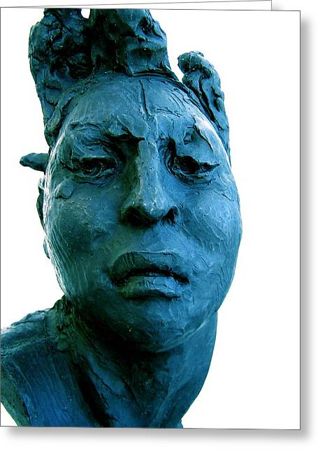 Ying Greeting Cards - Javier Marin Sculpture Greeting Card by M Pace