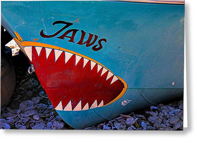 Jaws Greeting Cards - Jaws boat bow Greeting Card by Garry Gay