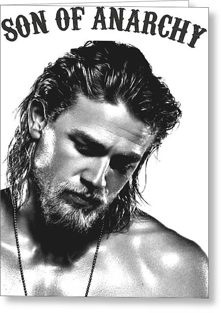 Jax Greeting Cards - Jax Teller - Son of Anarchy Greeting Card by Helena Kay