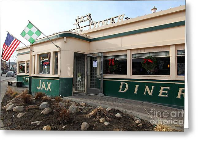 Jax Greeting Cards - Jax Truckee Diner Truckee California 5D27506 Greeting Card by Wingsdomain Art and Photography