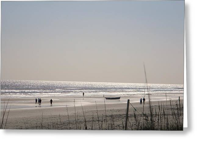 Jacksonville Pyrography Greeting Cards - Jaxs beach  Greeting Card by Joanne Askew