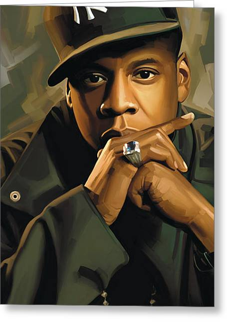 Rapper Greeting Cards - Jay-Z Artwork 2 Greeting Card by Sheraz A