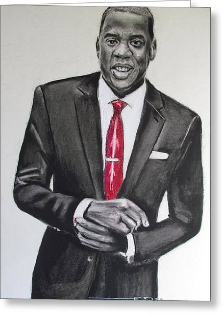Hip Hop Bear Greeting Cards - Jay Z Greeting Card by Eric Dee