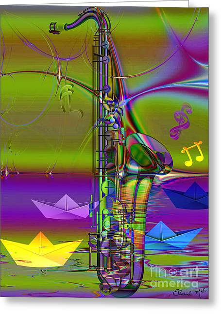Talent Greeting Cards Greeting Cards - Jazz Chill Greeting Card by Eleni Mac Synodinos