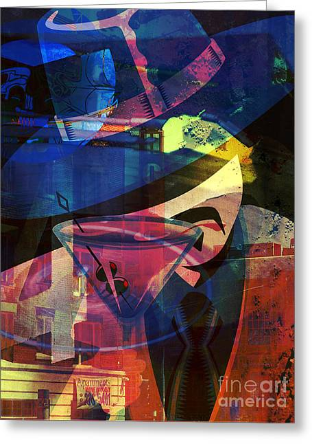 Music Time Greeting Cards - Jazz Club Greeting Card by Robert Ball