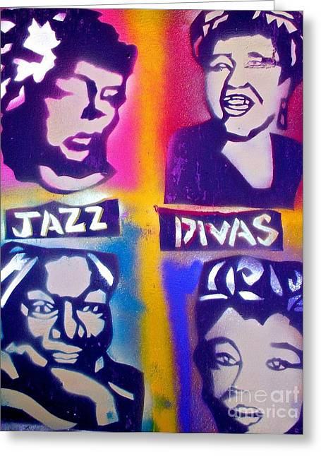 Nina Simone Greeting Cards - Jazz Divas  Greeting Card by Tony B Conscious