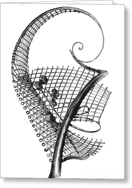 Steel Sculptures Greeting Cards - Jazz I. Greeting Card by Gyula Friewald