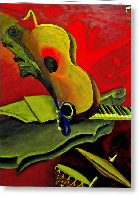 Fli Greeting Cards - Jazz Infusion Greeting Card by  Fli Art