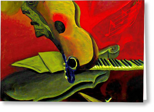 Jazz Infusion Greeting Card by  Fli Art