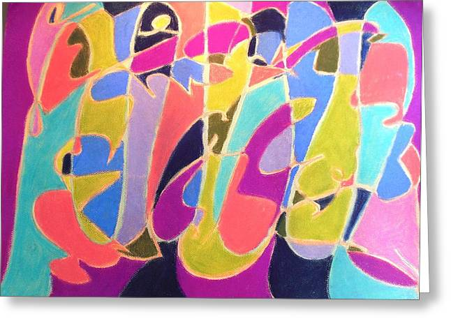 Jazz Live Greeting Card by Esther Newman-Cohen