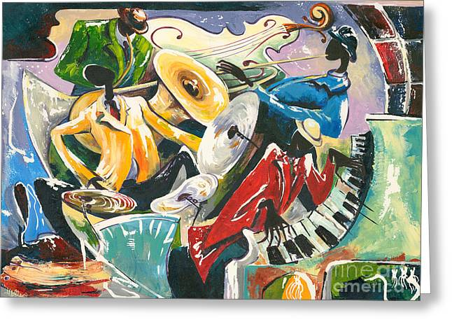 All That Jazz Greeting Cards - Jazz No. 3 Greeting Card by Elisabeta Hermann