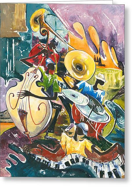 Jazz No. 4 Greeting Card by Elisabeta Hermann