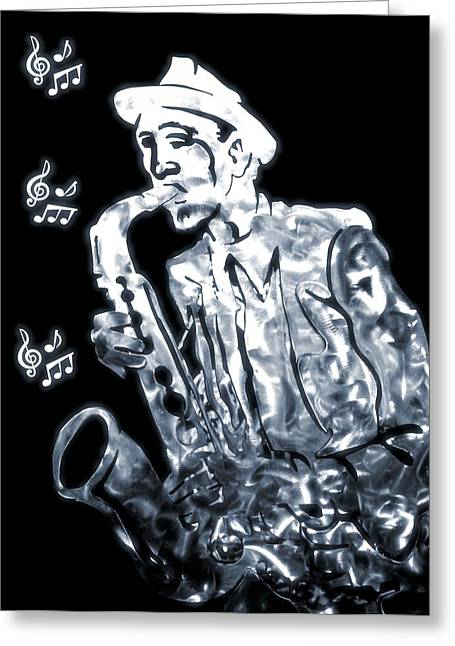 Jazz Notes Greeting Card by Dan Sproul