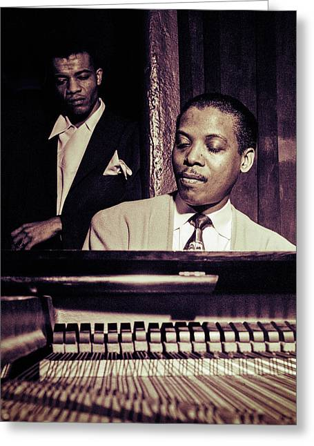 Recently Sold -  - ist Photographs Greeting Cards - Jazz Pianist Kenny Kersey Greeting Card by Carlos Lazurtegui