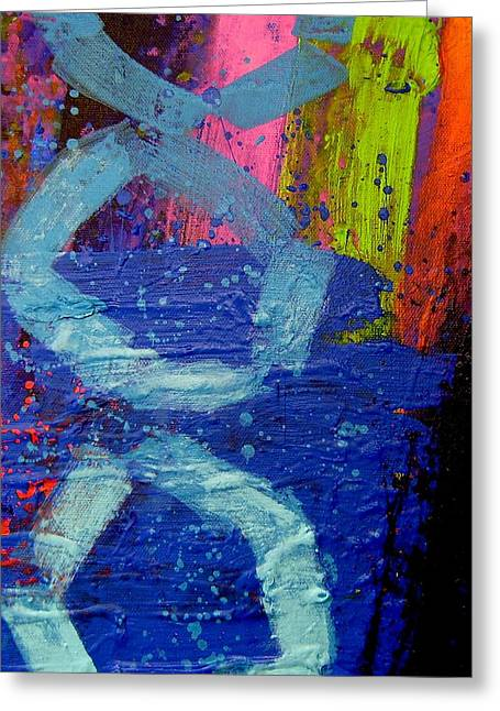 Abstract Art Greeting Cards Greeting Cards - Jazz Process - Improvisation Greeting Card by John  Nolan