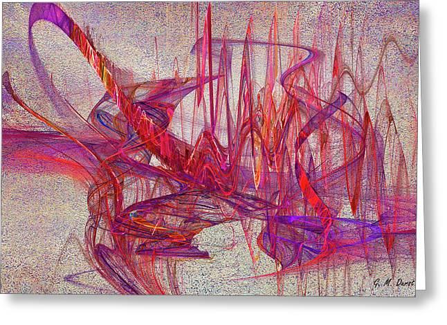 Computer Artnew Age Greeting Cards - Jazz Rhythm Greeting Card by Michael Durst