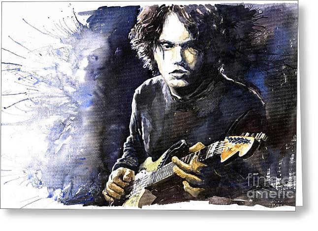 Jazz Rock John Mayer 03  Greeting Card by Yuriy  Shevchuk
