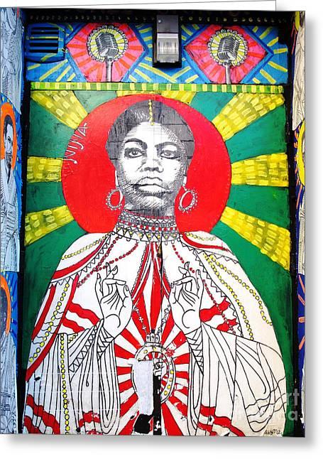 Nina Simone Greeting Cards - Jazz Saint Greeting Card by Ethna Gillespie