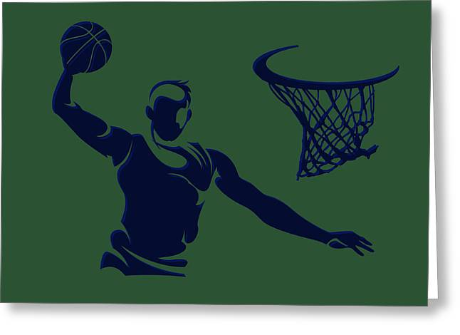 Recently Sold -  - Utah Jazz Greeting Cards - Jazz Shadow Player1 Greeting Card by Joe Hamilton