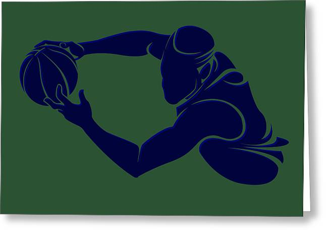 Recently Sold -  - Utah Jazz Greeting Cards - Jazz Shadow Player2 Greeting Card by Joe Hamilton