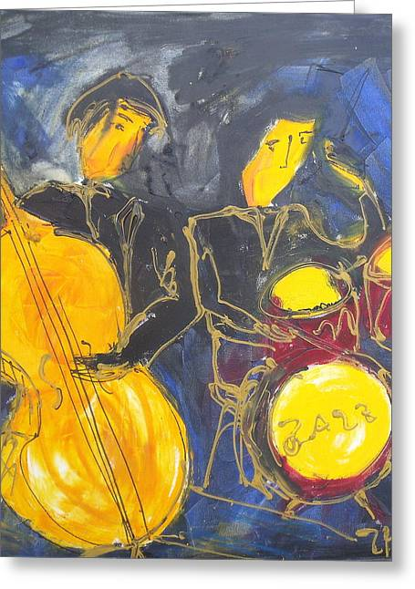 Chello Greeting Cards - Jazz  Greeting Card by Sonja  Zeltner