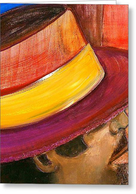 Puerto Rican Greeting Cards - Jazzman Greeting Card by Debi Starr