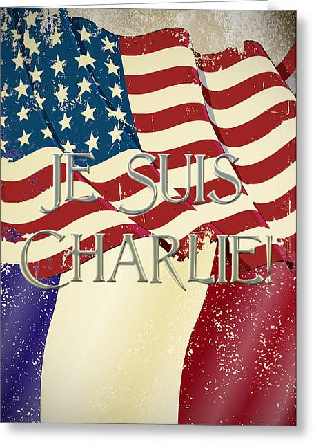 Criticize Greeting Cards - Je Suis Charlie Greeting Card by Paulette B Wright