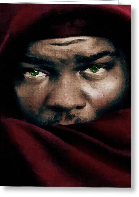 Red Eye Greeting Cards - Jealous Othello Greeting Card by Georgiana Romanovna