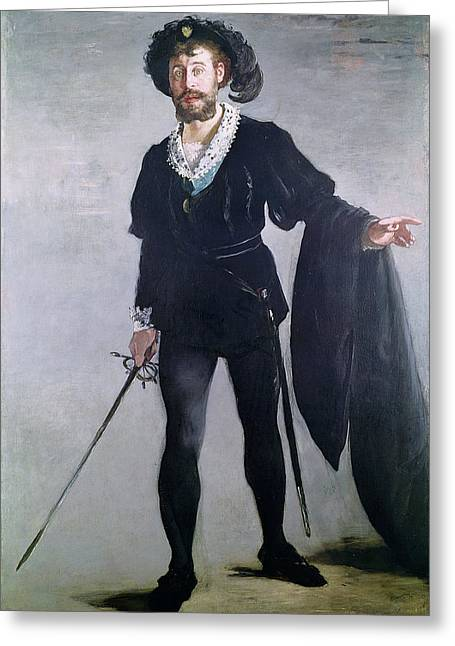 Sword Greeting Cards - Jean Baptiste Faure 1830-1914 As Hamlet, 1877 Oil On Canvas Greeting Card by Edouard Manet