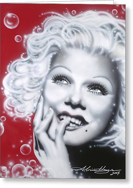 Leading Lady Greeting Cards - Jean Harlow Greeting Card by Alicia Hayes