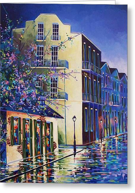Streets Sculptures Greeting Cards - Jean Lafittes Greeting Card by Elaine Adel Cummins