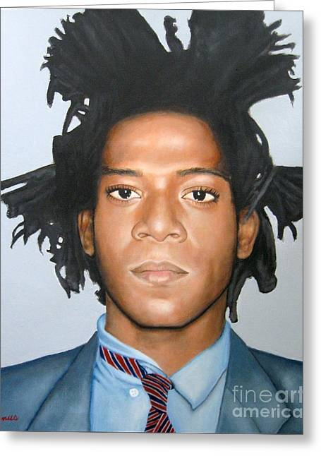 Photograph Of Painter Greeting Cards - Jean-Michel Basquiat Greeting Card by Venus