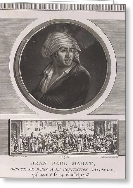 Jean Paul Marat Greeting Card by British Library