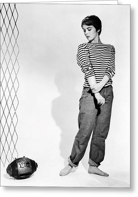 Roar Greeting Cards - Jean Seberg in The Mouse That Roared  Greeting Card by Silver Screen
