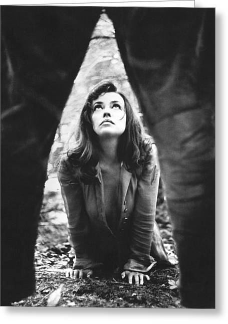 Moreau Greeting Cards - Jeanne Moreau in Mademoiselle  Greeting Card by Silver Screen