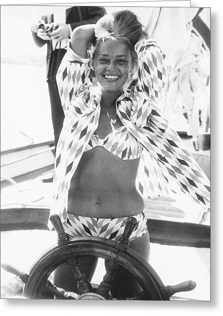 Moreau Greeting Cards - Jeanne Moreau Greeting Card by Silver Screen