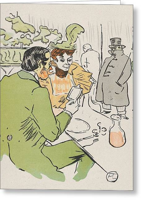 Rire Greeting Cards - Jeanne prends sans quon te voie Greeting Card by Toulouse-Lautrec