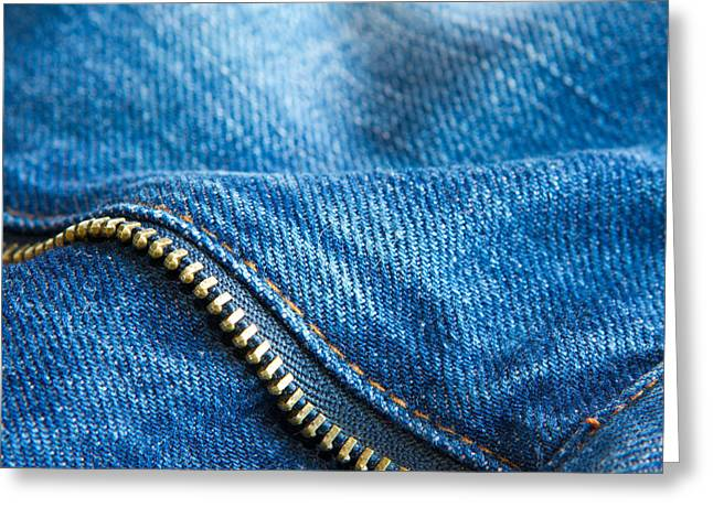Apparel Greeting Cards - Jeans Greeting Card by Fizzy Image