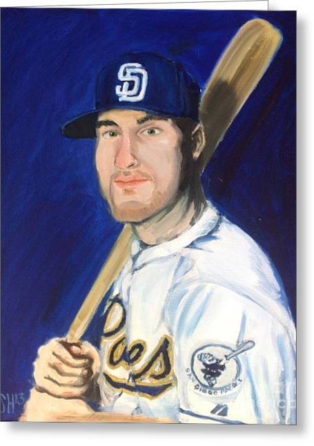 Hitter Paintings Greeting Cards - Jedd Gyorko Greeting Card by Jeremy Nash