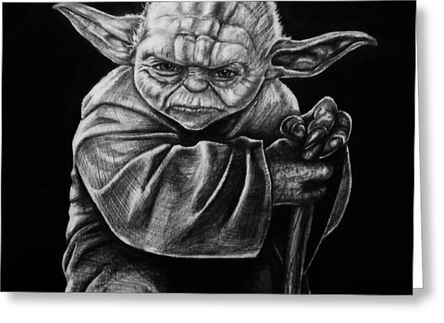 Master Yoda Greeting Cards - Jedi Master Greeting Card by Jeff Stephens