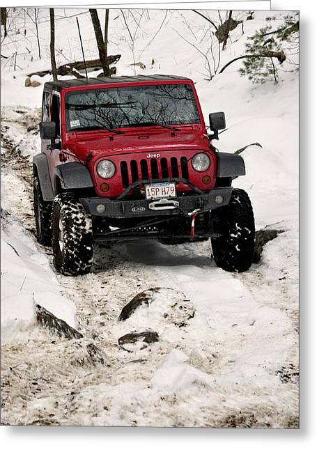 Jeep Greeting Cards - Jeep 5 Greeting Card by J Scott Davidson