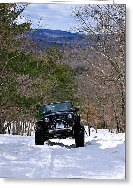 Jeep Greeting Cards - Jeep 9 Greeting Card by J Scott Davidson