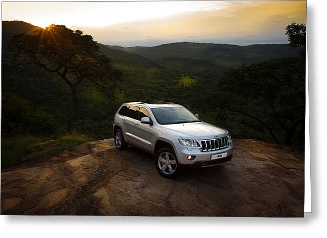 Out Of Africa Greeting Cards - Jeep Grand Cherokee Greeting Card by George Schmahl