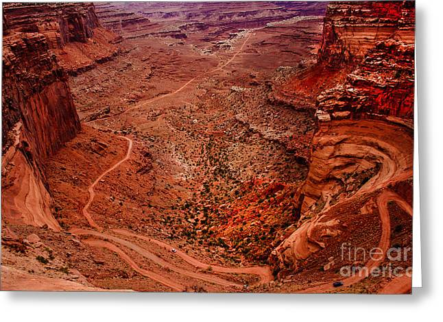 Primitive Desert Greeting Cards - Jeep Trails Greeting Card by Robert Bales