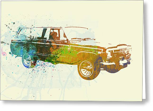 Cylinders Greeting Cards - Jeep Wagoneer Greeting Card by Naxart Studio